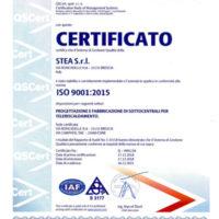 Certifica ISO 9001:2015 STC STEA